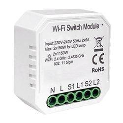 Przekaźnik dopuszkowy 2 kanały WiFi TUYA LN